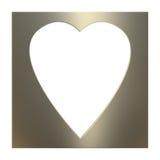Golden Valentine Frame Royalty Free Stock Image