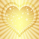 Golden valentine frame Royalty Free Stock Images