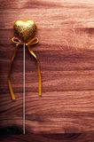 Golden Valentine heart. Royalty Free Stock Images