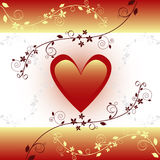 Golden Valentine's Card. Vect Stock Images