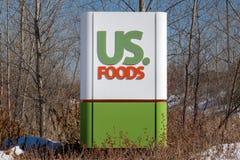 US Food Exterior and Trademark Logo Stock Photo
