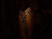 The golden vase. The expensive golden vase Royalty Free Stock Photography