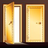 Golden Vault Door. Vector Illustration Royalty Free Stock Image