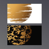 Golden vcard Royalty Free Stock Image