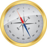Golden  vector compass Royalty Free Stock Images