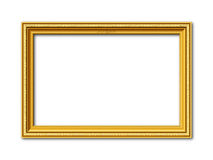 Golden vector frame with stucco ornaments Royalty Free Stock Photos