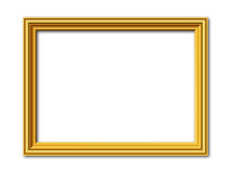 Golden vector frame  on white Royalty Free Stock Photography