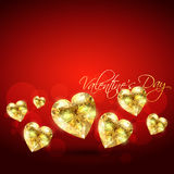 Golden vector heart Stock Photography