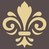 Golden Vector Pattern With Royal Lily Royalty Free Stock Photos