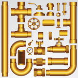 Golden Vector Pipeline Royalty Free Stock Photography
