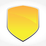 Golden Vector Shield Stock Photography