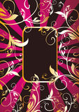 Golden vegetable pattern and ray Stock Photography