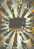 Golden vegetable pattern and ray Royalty Free Stock Images