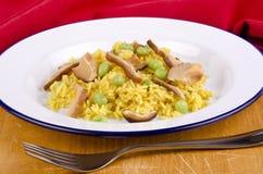 Golden vegetable rice Stock Photos