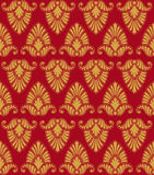 Golden vegetable seamless pattern. Vegetable gold seamless pattern on a maroon background Stock Photography