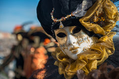Golden Venetian Carnival Mask Royalty Free Stock Image