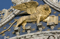 Golden venetian lion Royalty Free Stock Images