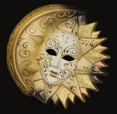 Golden Venetian mask Royalty Free Stock Photo