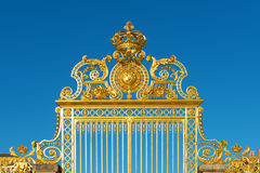 Golden Versailles palace gate entrance Royalty Free Stock Images