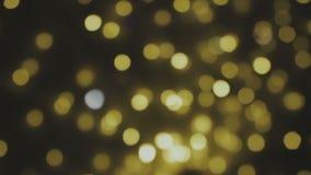 Golden, verwischt, beleuchtet bokeh Hintergrund Volle HD-Schleife, 1080p Volle HD-Schleife, 1080p stock video