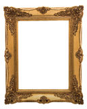 Golden victorian frame. Golden victorian painting frame isolated on a white background stock photography