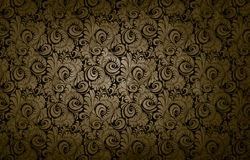 Golden victorian vintage background Royalty Free Stock Photos