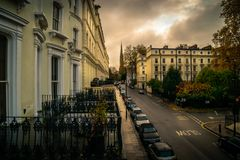 THE GOLDEN VIEW OF THE MORNING royalty free stock photo