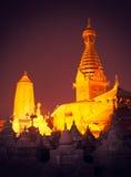 The golden view of Swayambhunath Stupa,Kathmandu,Nepal Royalty Free Stock Photos