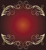 Golden vintage banner Royalty Free Stock Photography