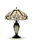 Golden Vintage Baroque Classic Decorated lamp Stock Photo