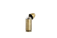 Golden vintage bullet  lighter isolated Stock Image