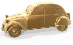 Golden vintage car Royalty Free Stock Photo