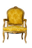 Golden Vintage Chair Royalty Free Stock Photography