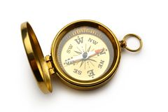 Golden vintage compass Royalty Free Stock Image