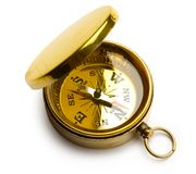 Golden vintage compass Stock Photography