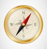 Golden Vintage Compass Royalty Free Stock Photography