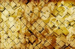 Golden Vintage Cubes. Abstract Background Royalty Free Stock Photo