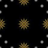 Golden vintage decor seamless pattern Stock Photography