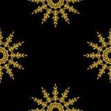 Golden vintage decor seamless pattern Stock Photos