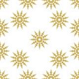 Golden vintage decor seamless pattern Stock Images