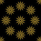 Golden vintage decor seamless pattern Royalty Free Stock Images