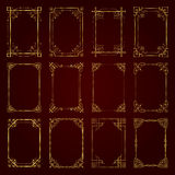 Golden vintage decorative calligraphic frames - vector set Royalty Free Stock Photography