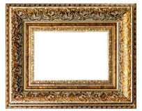Golden vintage empty frame Royalty Free Stock Photography