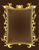Golden vintage frame Stock Photography