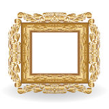 Golden vintage frame. Isolated on blurs background.Vector illustration Stock Photo