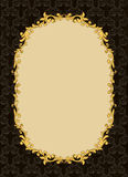 Golden vintage frame Royalty Free Stock Image