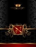 Golden vintage frame for design packing Royalty Free Stock Image