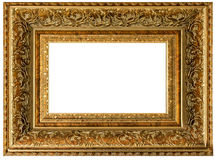 Golden vintage frame empty Royalty Free Stock Photos