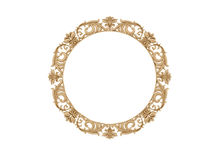 Golden vintage frame. Isolate mirror. Design retro element. physical realistic reflection . royalty free stock images