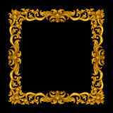 Golden vintage frame isolated Stock Image